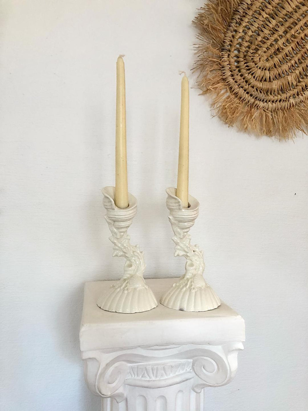Ceramic Seascape Candlesticks