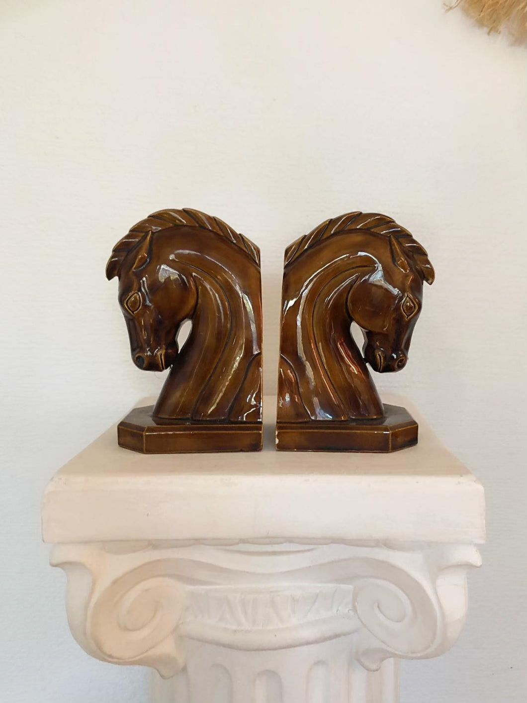 Mid-Century Horse Head Bookends