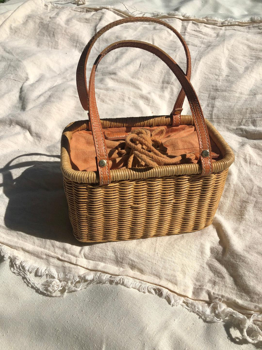 Wicker Basket Bag