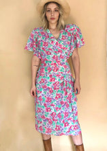 Load image into Gallery viewer, Flowy 80s Floral Dress