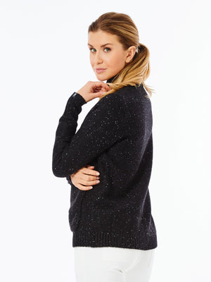 LINED SWEATER JACKET