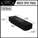 PlateMate Magnetic Add On Weight Plate 5 lb Brick (Sold as individual bricks)
