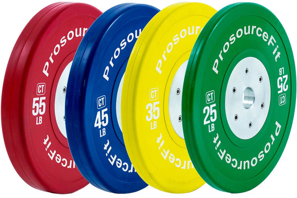 ProsourceFit Calibrated Colored Training Bumper Plates (Sold as pairs)