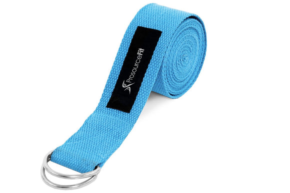 ProsourceFit Metal D-Ring Yoga Strap
