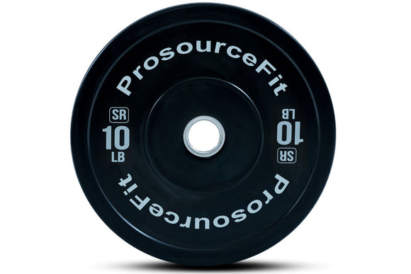 ProsourceFit Solid Rubber Bumper Plate (Sold in Pairs)