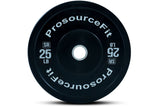 ProsourceFit Solid Rubber Bumper Plate (Sold As Singles)