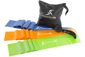 ProsourceFit Therapy Flat Resistance Bands Set