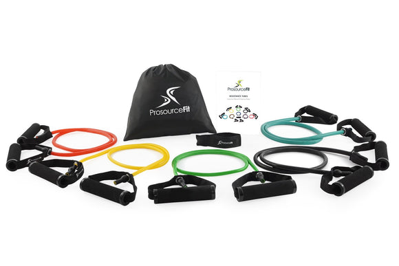 ProsourceFit Tube Resistance Bands Set With Attached Handles