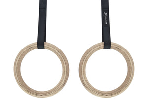 ProsourceFit Wooden Gymnastic Rings