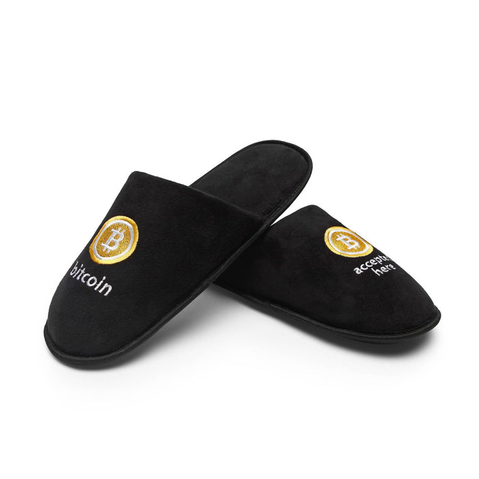 Bitcoin Accepted Here Slippers