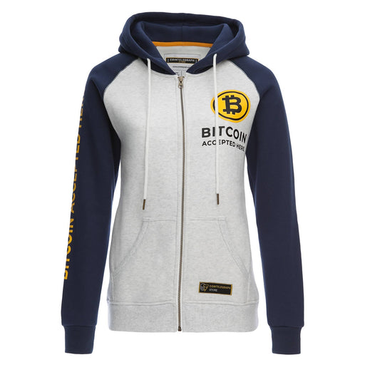 Fleece Zip Hoodie Bitcoin Accepted Here Unisex