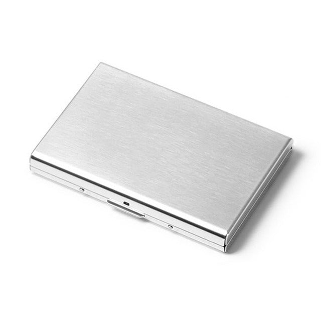 Solid Men's stainless steel credit card holder id