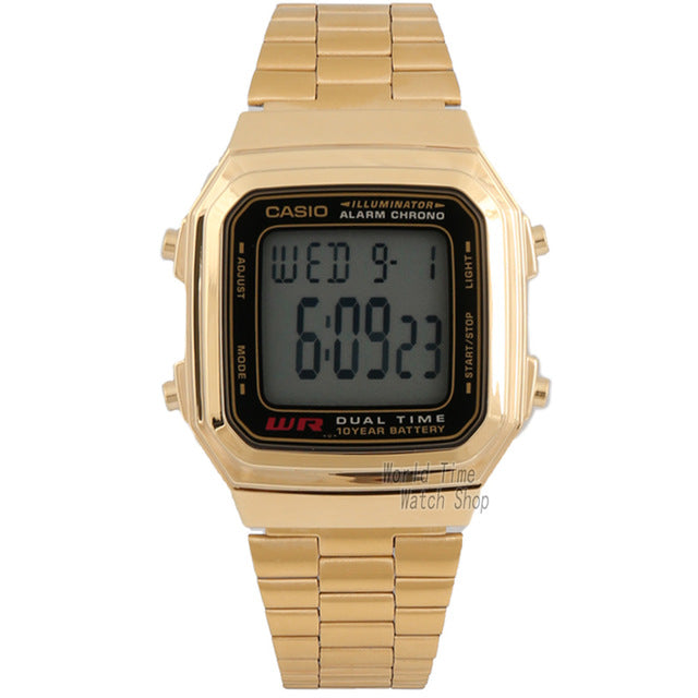 Casio watch fashionable casual small gold watch