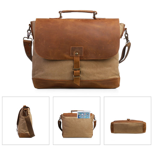 ECOSUSI Canvas Laptop Bag Briefcase