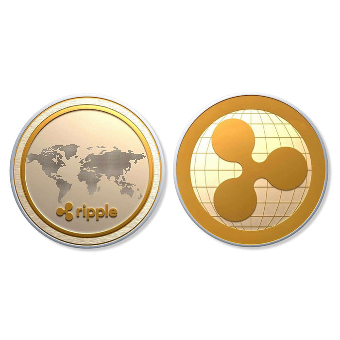 Cryptocurrency Ripple Coin Commemorative Round
