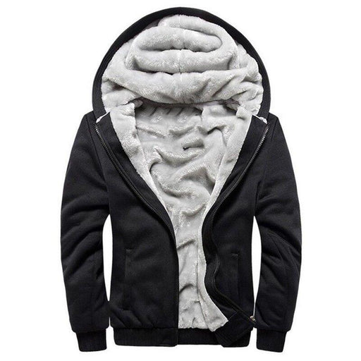 Hoodies Men Hooded Casual Wool Winter Thickened Warm Coat