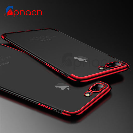 GPNACN Silicone Soft TPU Transparent Case For iPhone X 8 7 6 6S