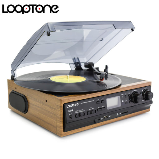 LoopTone USB Turntable Vinyl Record Player 2 Built-in Speakers