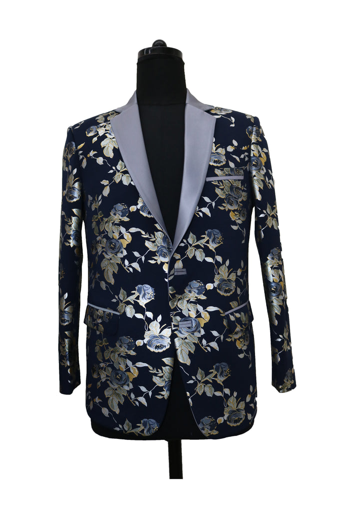Midnight Blue Floral Jacket
