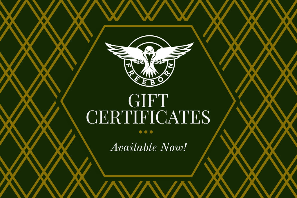Freeborn Designs Gift Card ($10 to $1000)