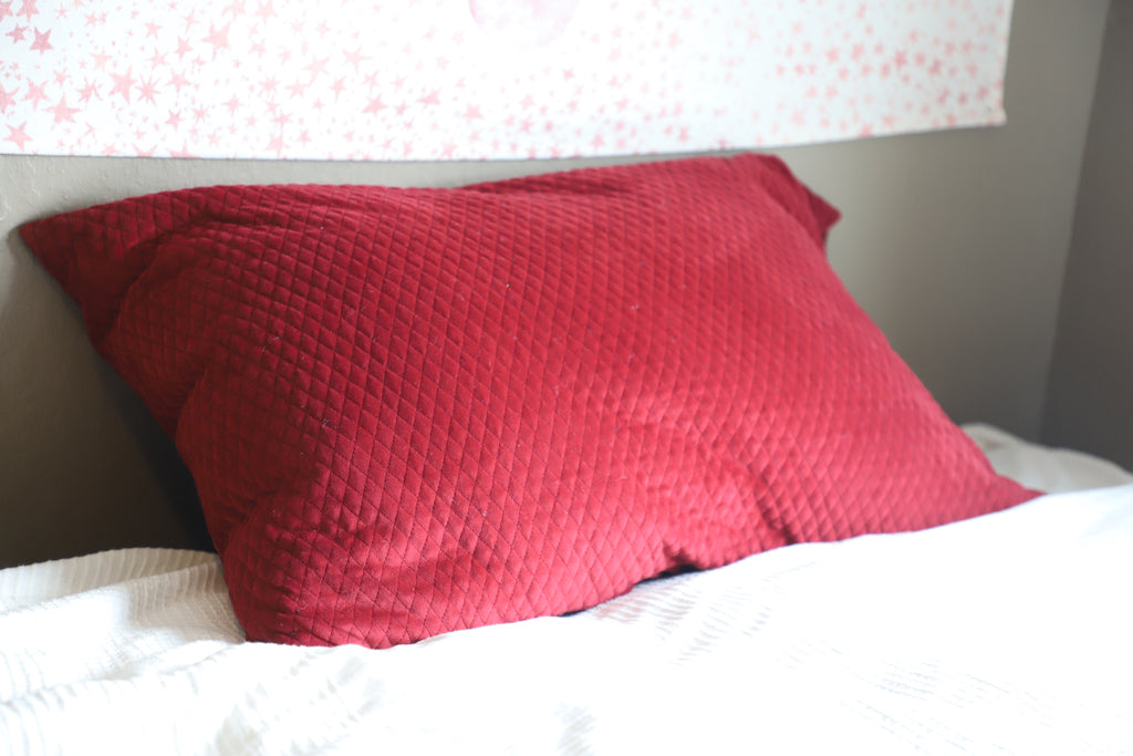 Quilted Velvet Pillow Case