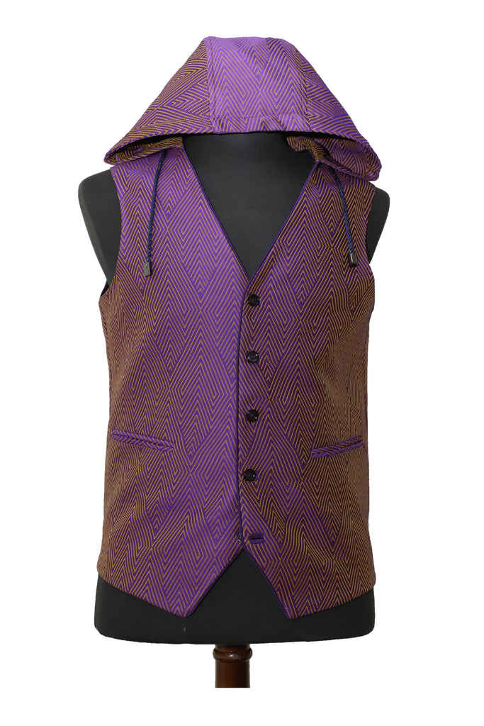 Purple Diamond Hooded Vest