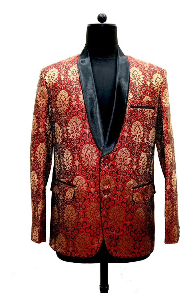 Red & Gold shawl lapel jacket
