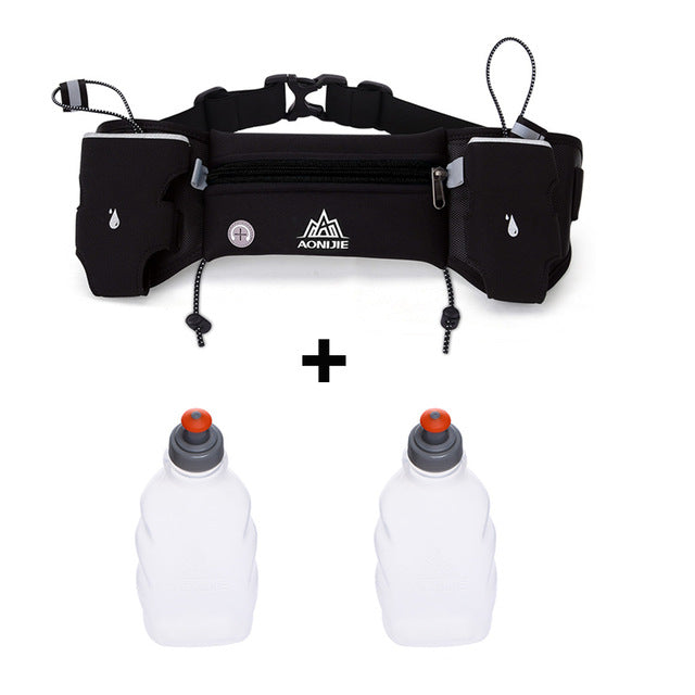 Sports Hydration Belt With Carry Pouch & 2 Bottles - OnlineBestBuys.com