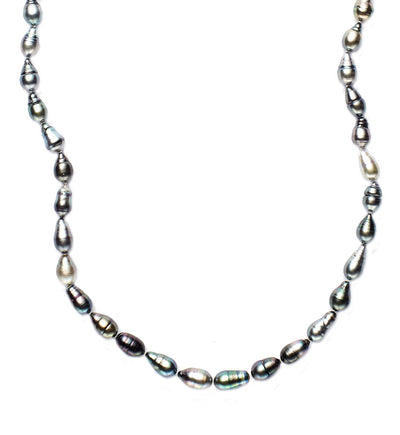 Black Tahitian and Baroque Pearl Necklace