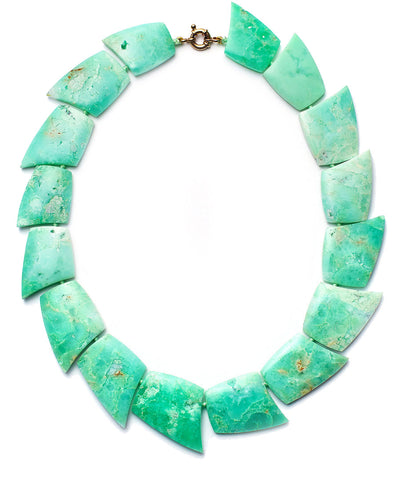 Chrysoprase Collar Necklace