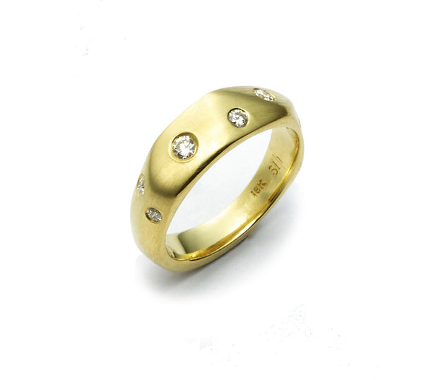 The Diana Band with Diamonds - 18kt Gold