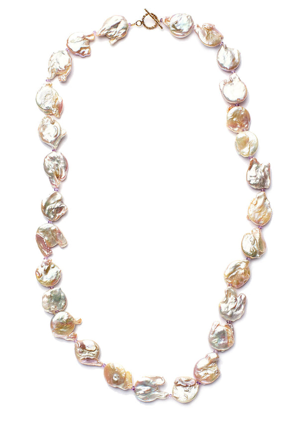 "Freshwater ""Kitty"" Pearl Single Strand Necklace"