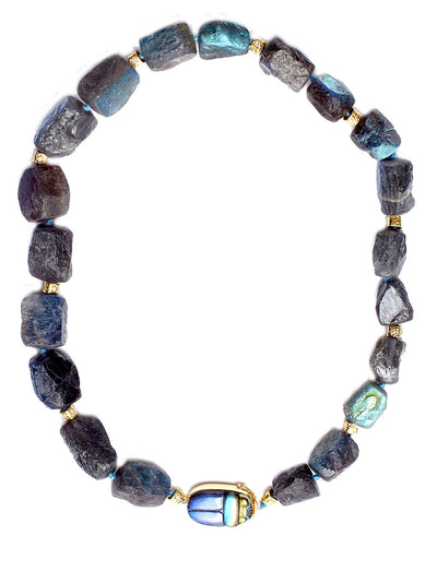 Hammered Labradorite Necklace