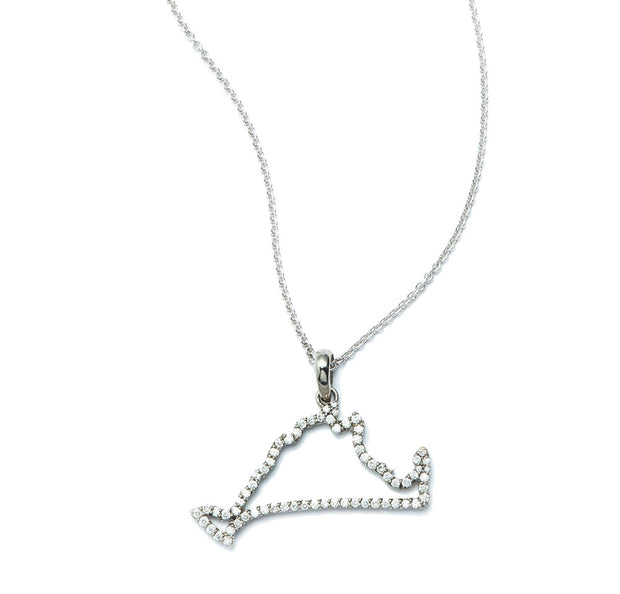 Martha's Vineyard Map in Diamonds and 18kt White Gold