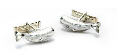 Magnificent Moby Cufflinks in Sterling Silver