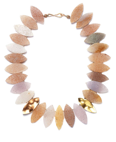 Multi Colored Druzy Quartz Necklace