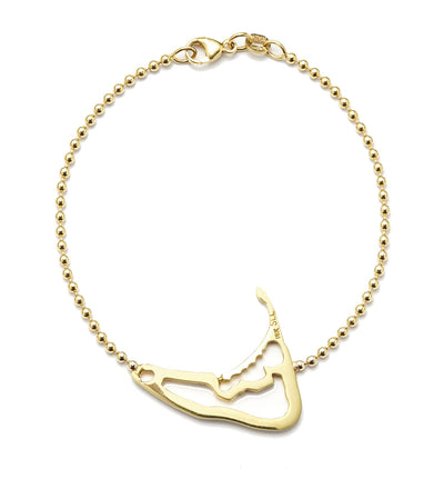 Nantucket Map Bracelet - 18kt Yellow Gold