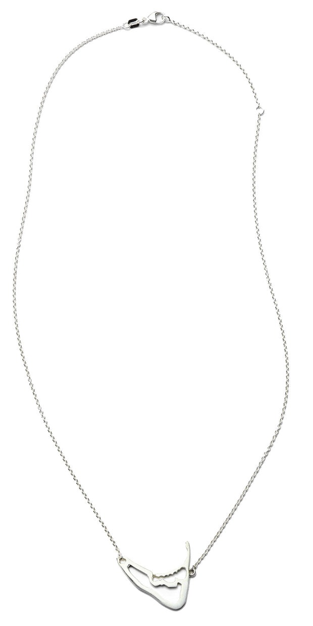 Nantucket Map Necklace in Sterling Silver
