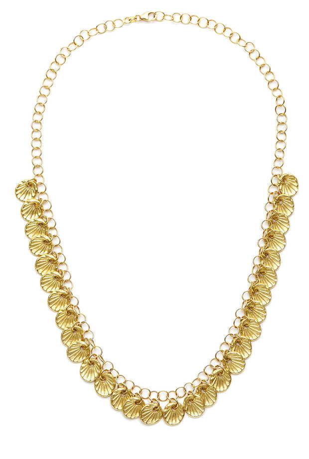 Nantucket Scallop Shell Necklace in 18kt Gold