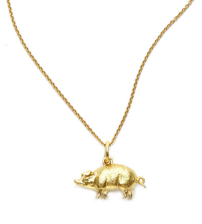 This Little Piggy Pig Charm in 18kt Gold