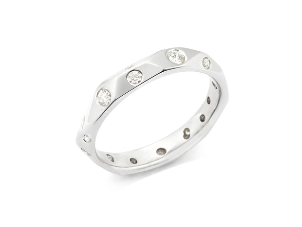 Ben's Band with Diamonds in 18kt White Gold
