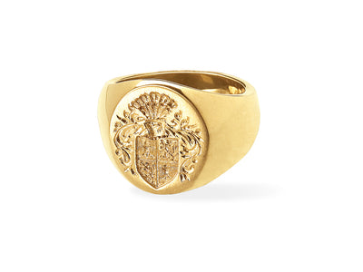Big Boy Signet Ring in 18kt Gold