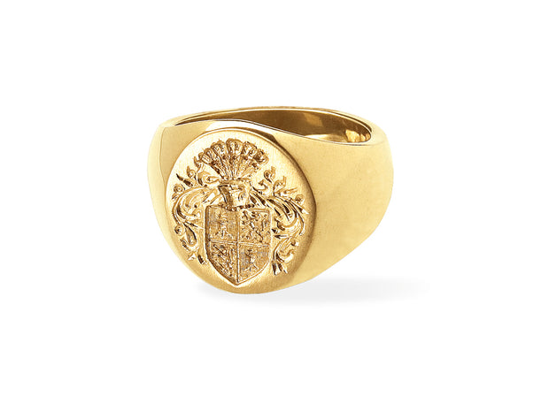 The Big Boy Signet Ring in 18kt Gold