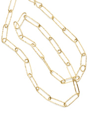 Hand-hammered Paper Clip Link Necklace
