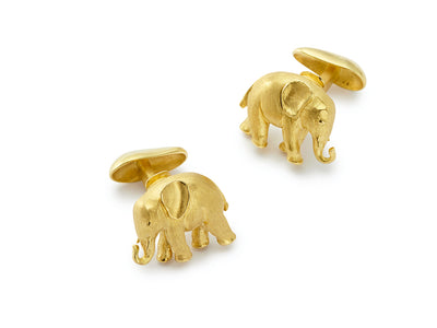 18kt Gold Baby Elephant Cufflinks