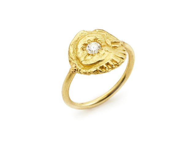 "18kt Gold ""Sea Star"" Ring"