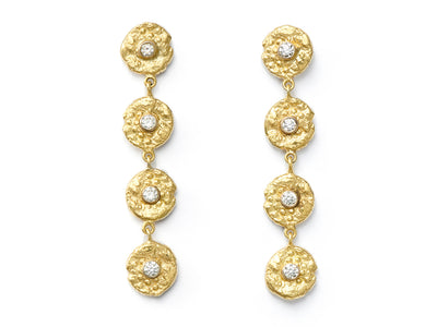 "18kt Gold and Diamond ""Seaquin"" Dangle Earrings"