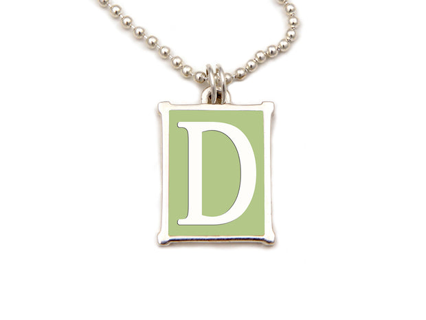 The Alphabet Collection™ Sterling Silver Charm - Greenwich Green