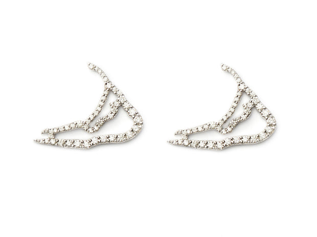 Nantucket in Diamonds Map Earrings