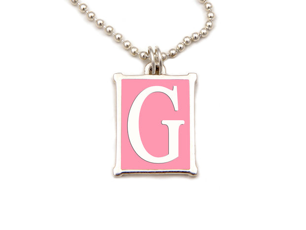 The Alphabet Collection™ Sterling Silver Charm - Palm Beach Pink